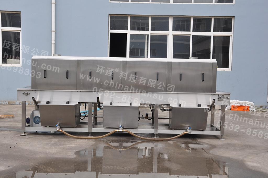 隧道式清洗机餐具的一道卫生防线