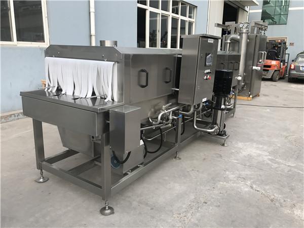 洗箱机采用巴氏灭菌法,清洗干净