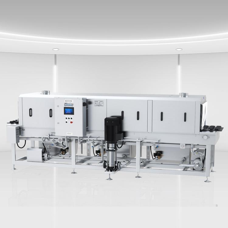 不锈钢周转箱清洗机XK-500,符合欧盟卫生设备标准